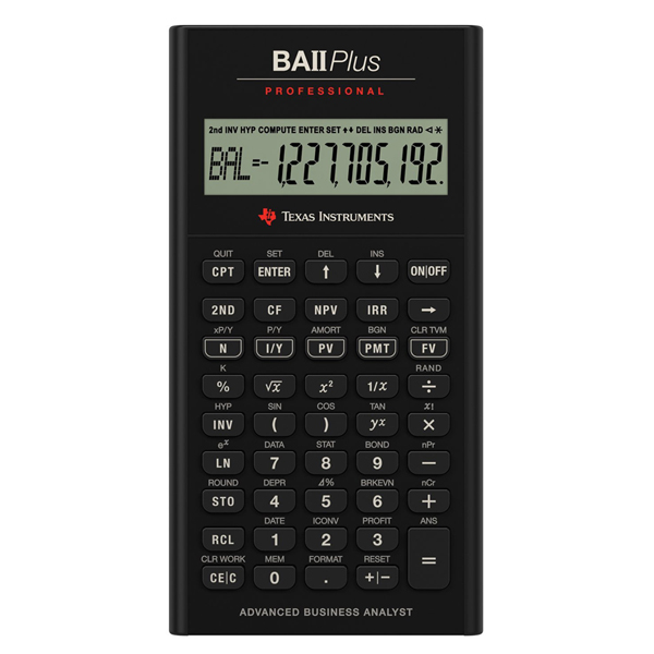 텍사스 인스트루먼트 전문가용 계산기 Texas Instruments BA II Plus Professional Financial Calculator
