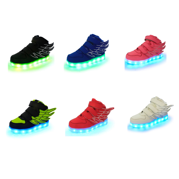 그레이스 레이디 LED 운동화 플래싱 USB 충전 GraceLady Boy Girl Sneakers USB Charging Flashing Shoes kids LED Luminous Shoes